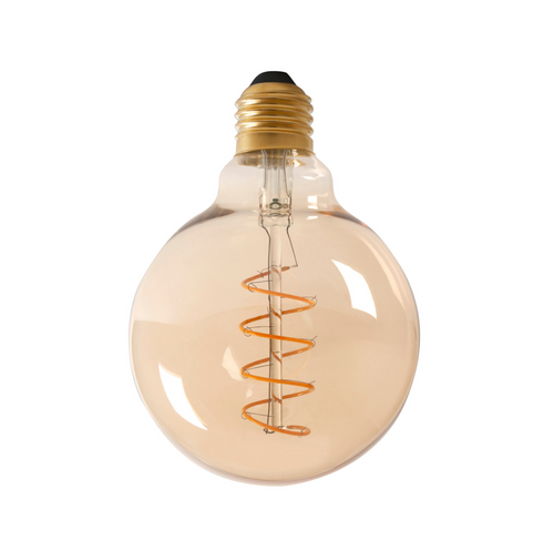 Dimmable LED Globe Spiral Filament Bulb - E27 (Tinted) 4w