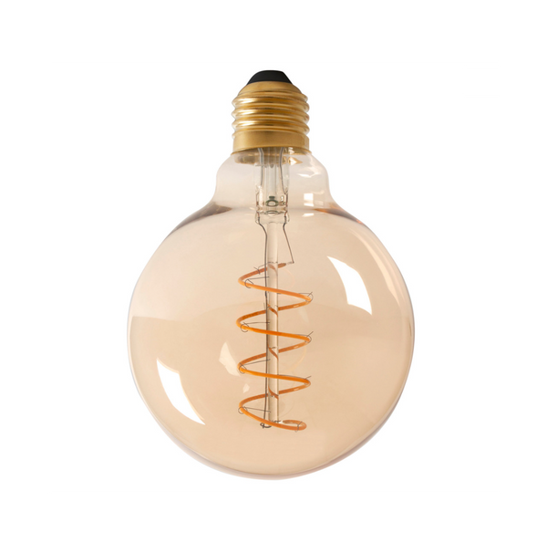 9cm Dimmable LED Globe Spiral Filament Bulb - E27 (Tinted) 4w
