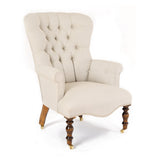 Washed Linen Tub Chair