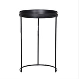 Marble Effect Round Side Table