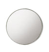 Champagne Circular Mirror with Narrow Iron Rim