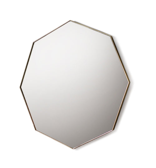 Champagne Slim Rim Iron Octagon Mirror