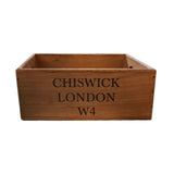 Chiswick London Set Of Two Wooden Boxes