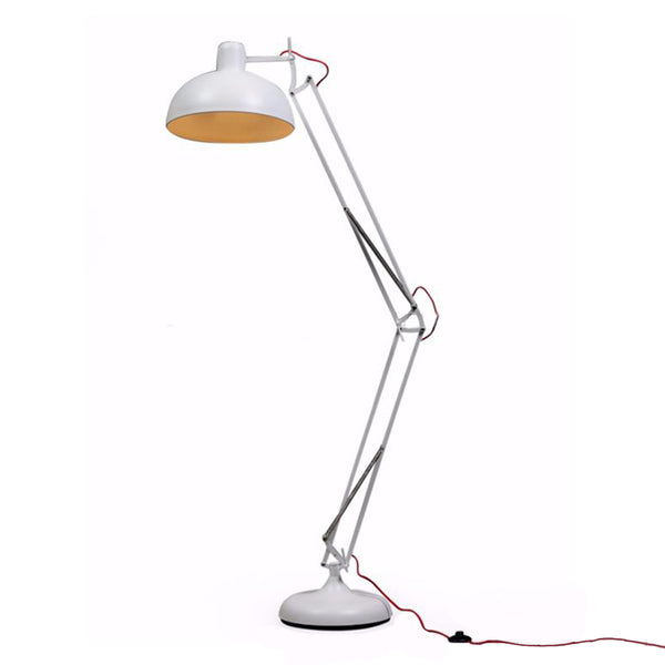 Extra Large Angled Floor Lamp - White