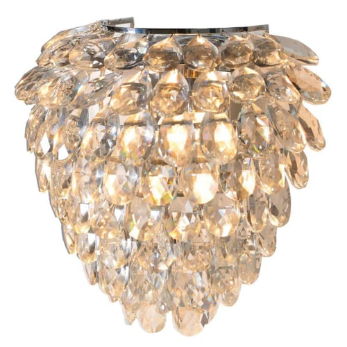 Crystal Teardrop Wall Light