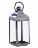 Polished Steel & Glass Lantern