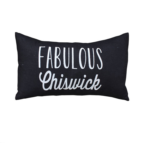Fabulous Chiswick Cushion (Black/Pink)
