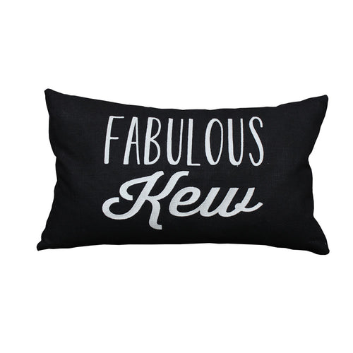 Fabulous Kew Cushion (Black/Pink)