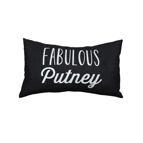 Fabulous Putney Cushion (Black/Pink)