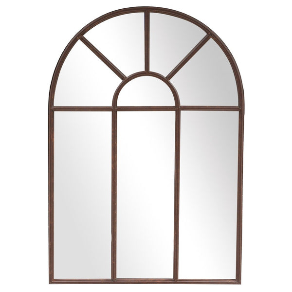 One of our smaller window mirrors, this pretty arched piece has a lovely red rust tone to the metalwork.  Perfect for the garden, it can be left outside but would look equally as good in any interior space.   H: 86 cm W: 61 cm D: 3 cm Colour: Rust