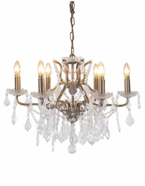 6 Branch Gold Shallow Chandelier