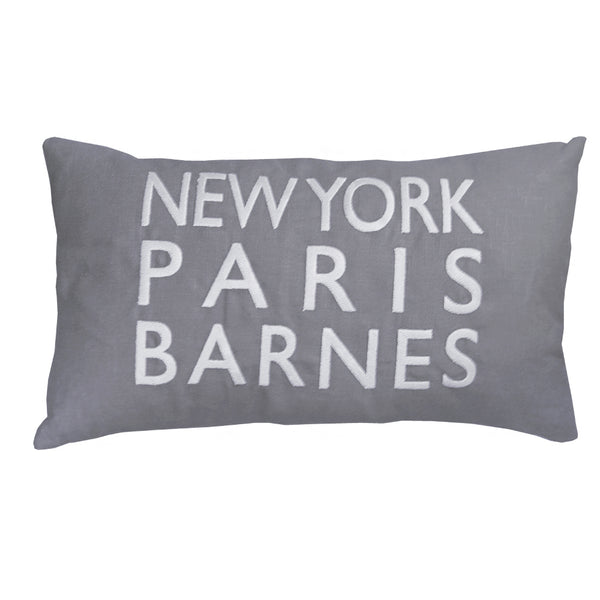 New York Paris Barnes Slate Cushion