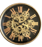 Small Black and Gold Moving Clock 25 cm