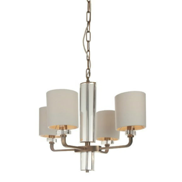 Brass & Glass Chandelier