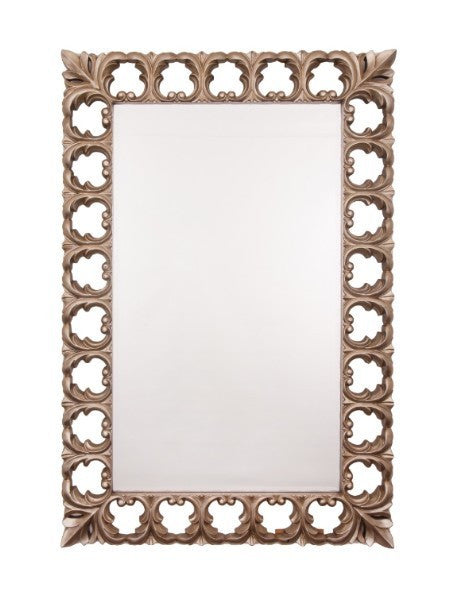 Antiqued Silver Rectangular Mirror