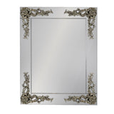 Rectangular Frameless Mirror With Metallic Corner
