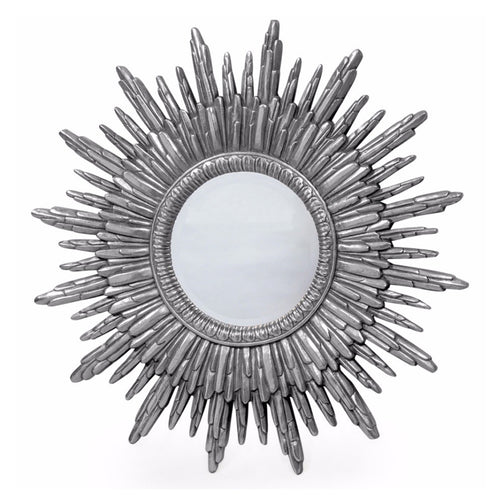 2ee2938f127d Antique Silver Sun Mirror