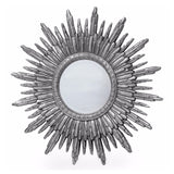 Antique Silver Sun Mirror