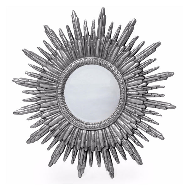 Antique Silver Sun Mirror (89 cm)