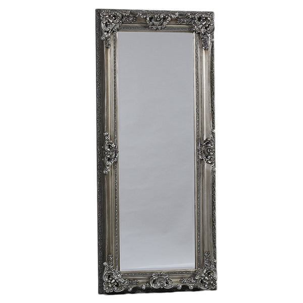 Tall Hogarth Mirror - Gunmetal Silver