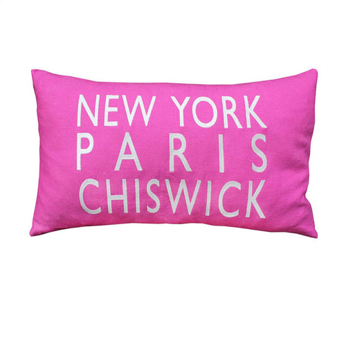 New York Paris Chiswick Pink Cushion