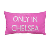 Only In Chelsea Cushion (Black/Pink)
