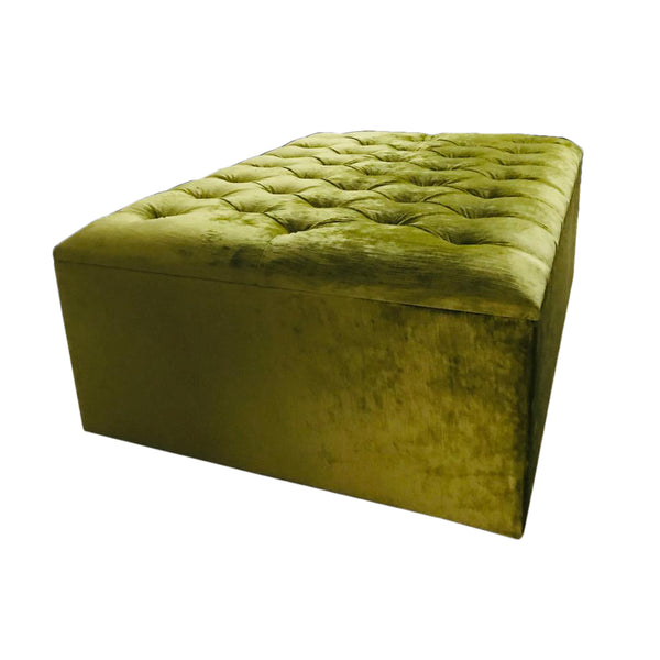 Heavenly Velvet Ottoman Storage Stool
