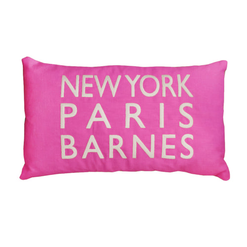 New York Paris Barnes Pink Cushion