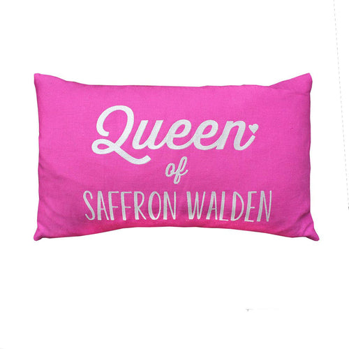 Queen Of Saffron Walden/Brighton Cushion (Black/Pink)