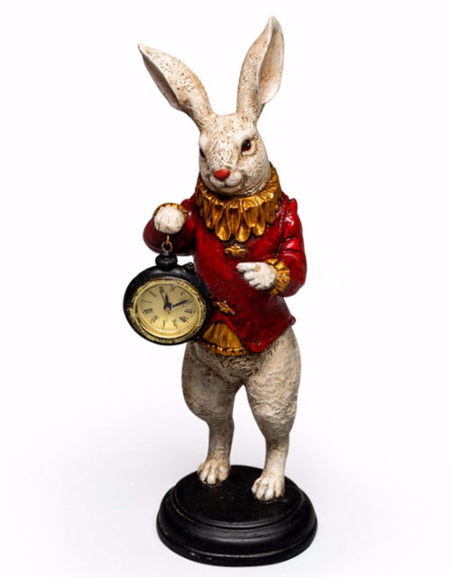 White Rabbit Standing Clock Figure