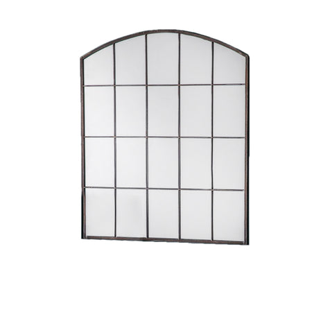 Tall Metal Arched Window Mirror