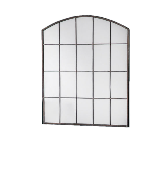 Arched Rustic Metal Indoor/Outdoor Window Mirror