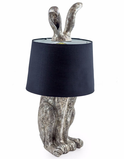 Silver Rabbit Table Lamp With Shade