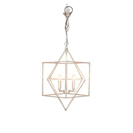 Grey and Brass Chinois Pendant