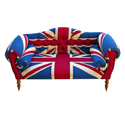 Kensington Union Jack Sofa. Bespoke Upholstered