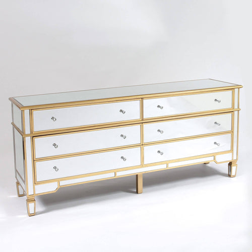 Venetian Glass Long Chest Drawers