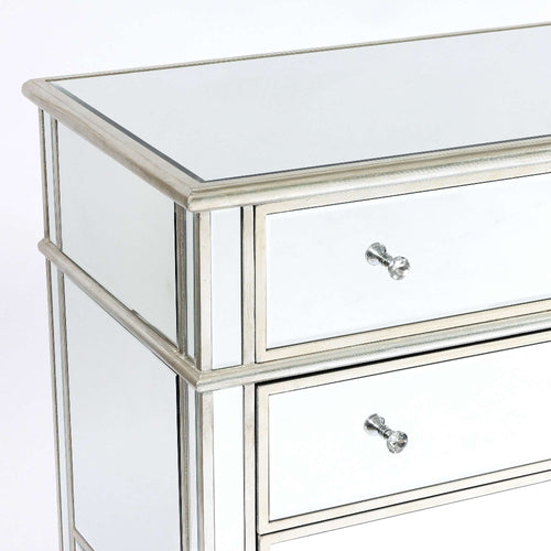 Silver Venetian Glass Chest of 6 Drawers
