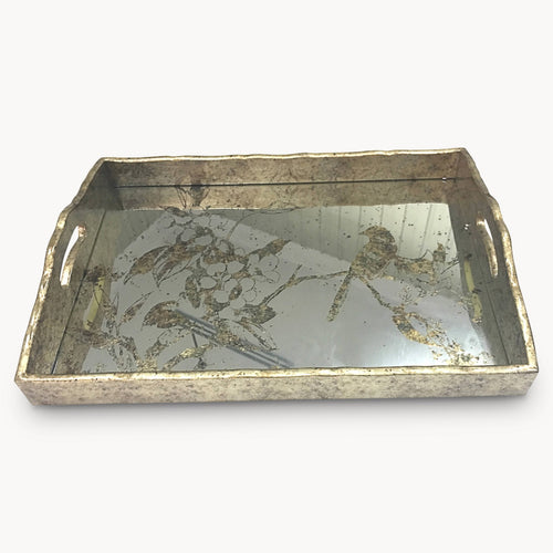 Gilt Mirrored Tray