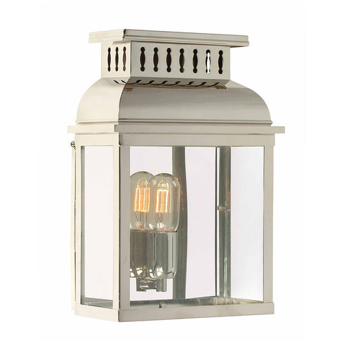 Polished Nickel Wall Lantern