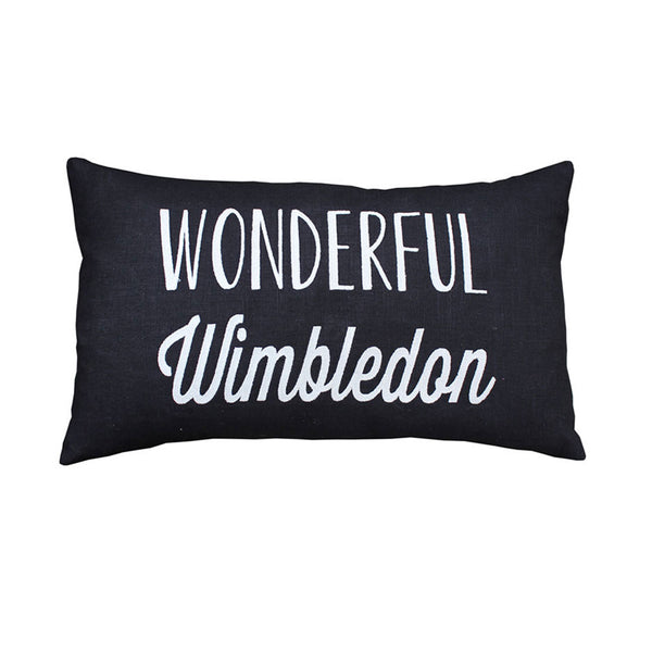 Wonderful Wimbledon Cushion (Black/Pink)