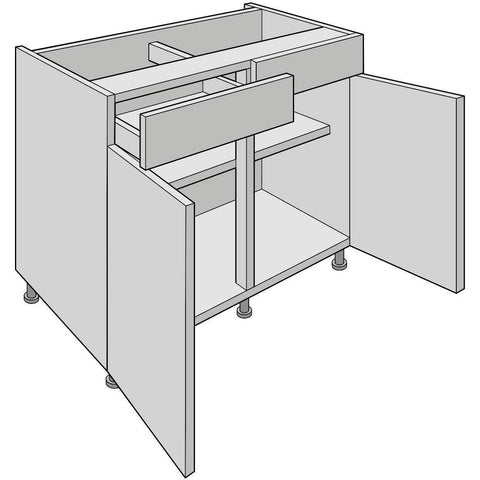 Double Drawer-Line Base Unit, Standard Drawer, Various Widths, Kitchen Cabinets - Kitchen Suppliers Online