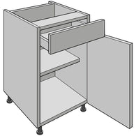 Drawer-Line Base Unit, Single, Premier Drawer, Various Widths, Kitchen Cabinets - Kitchen Suppliers Online