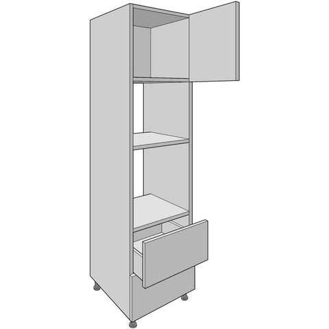 Dual Appliance Tower, Standard Drawer, 600mm Oven & 450mm Microwave Aperture, Kitchen Cabinets - Kitchen Suppliers Online