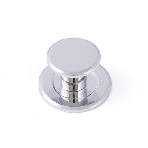 FINESSE, Knob & Back Plate in Chrome or Brushed Nickel, Handles - Kitchen Suppliers Online