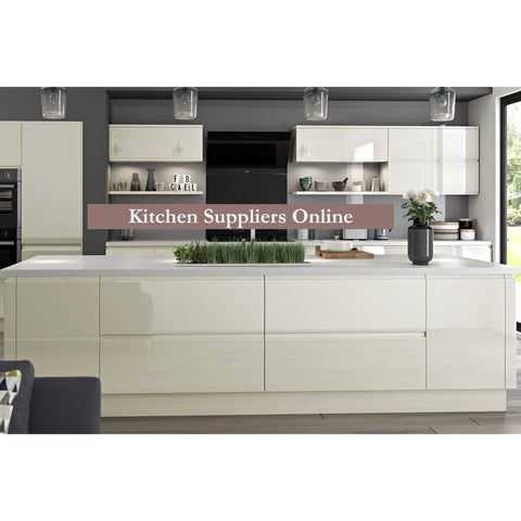 Hoxton 'Curve' 2 Drawer Cabinet, Complete Kitchen Cabinets - Kitchen Suppliers Online