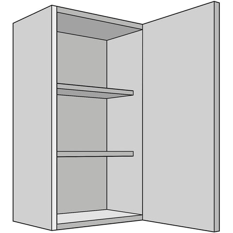 Hoxton 'Curve' Single Tall Wall Unit, Complete Kitchen Cabinets - Kitchen Suppliers Online