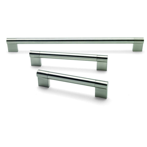 KEYHOLE SLIM, Bar Handle in Brushed Nickel, Available in 3 Sizes, Handles - Kitchen Suppliers Online