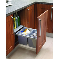 Pull-Out Base Mounted Waste Bin to Suit Minimum 450mm Wide Cabinet, Storage - Kitchen Suppliers Online