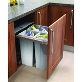 Pull-Out Base Mounted Waste Bin to Suit Minimum 600mm Wide Cabinet, Storage - Kitchen Suppliers Online