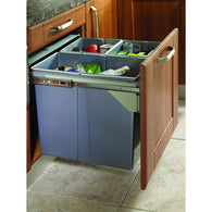 Side Mounted Pull-Out Segregated 90 Litre Waste Bin, 2 x 45 Litre Bin Capacity, Storage - Kitchen Suppliers Online